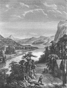 RIVERS: Amoor: River & King-Gan Mountains, old print, 1870